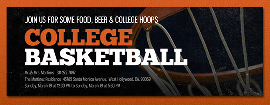 College Basketball Invitation
