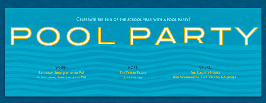 Cool Pool Invitation