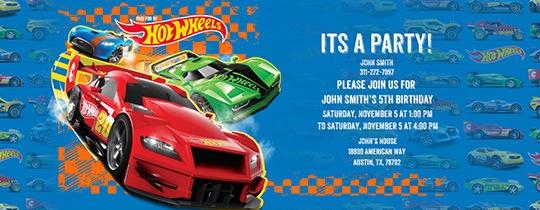 Car Party Invitation