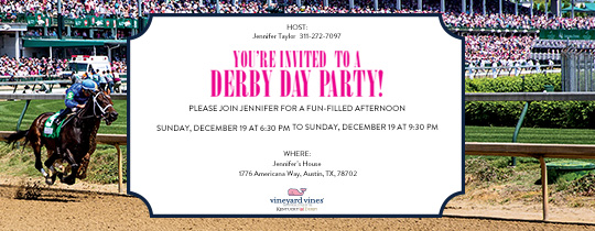 Derby Horse 17 Invitation