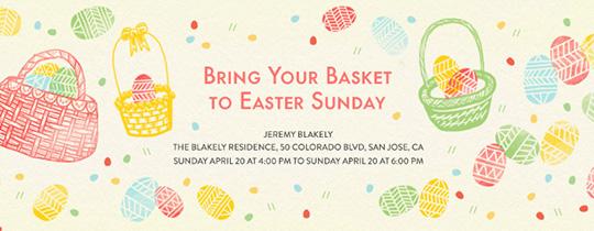 Easter Baskets Invitation