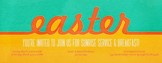Easter Script Invitation