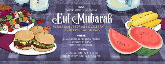 Eid Summer Cookout Invitation