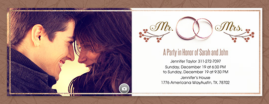 Exceptionnel Fall Wedding Band Invitation