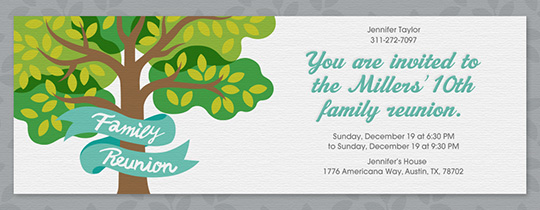 Perfect Family Reunion Tree Invitation  Family Reunion Flyer