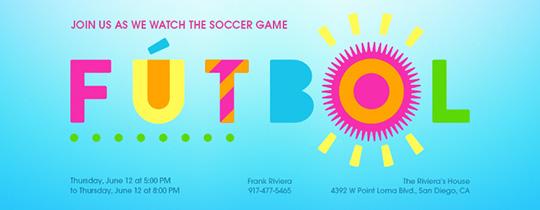 Festive Futbol Invitation