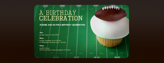 Invitations Free eCards and Party Planning Ideas from Evite – Football Themed Birthday Invitations