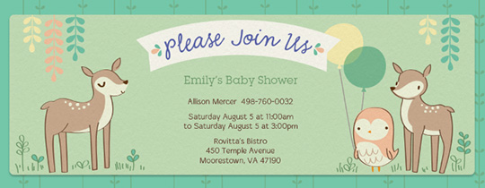 Forest Shower Invitation