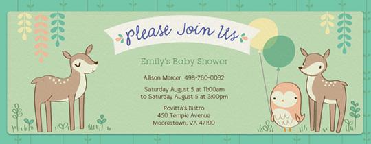 Forest Shower Invitation