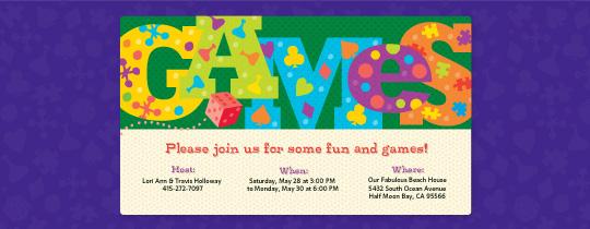 Fun and Games Invitation