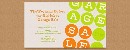 Garage Sale Invitation