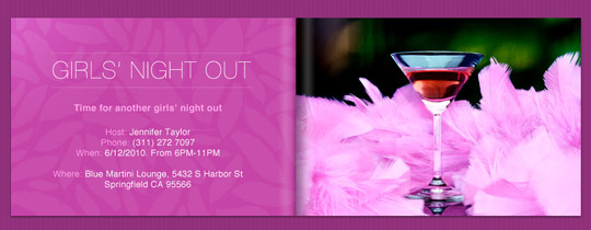 Girls' Night Cosmo Invitation