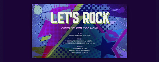 Glam Rock Invitation