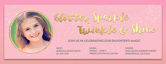 Glitter and Shine Invitation