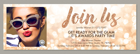 Glitter Awards Invitation