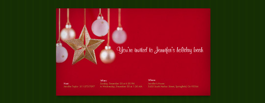 Gold Star Invitation