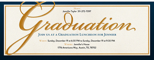 Graduation Navy Invitations Invitation