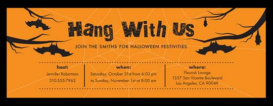 Hang With Us Invitation