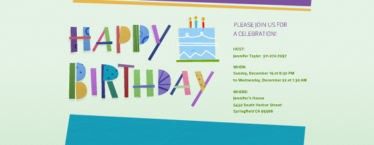 Happy Birthday Cutout Invitation