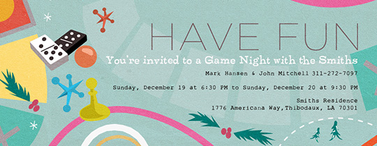 Holiday Game Night Invitation