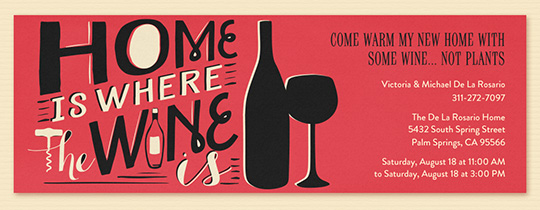 Home Is Where the Wine Is Invitation