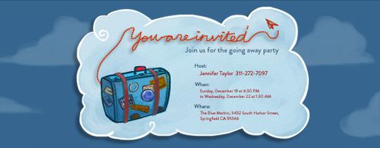 In the Clouds Invitation