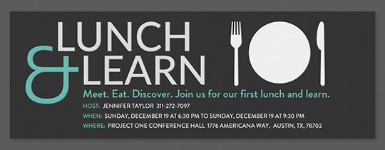 Lunch and Learn Invitation