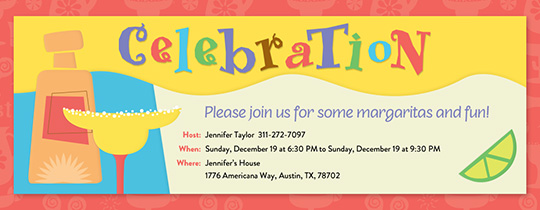 Margarita Celebration Invitation