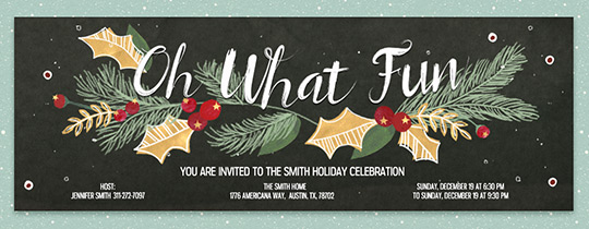 oh what berry fun invitation - Whens Christmas Day