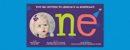 Babys First Year free online invitations – First Birthday Invitation Templates Free
