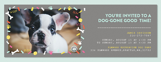 Party Pup Confetti Invitation