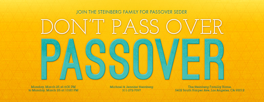 Passover Pun Invitation