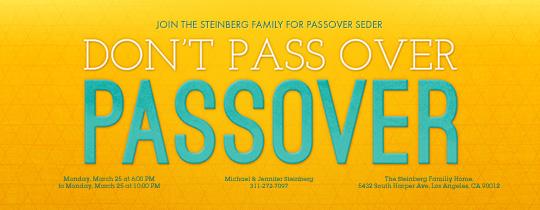 Passover Pun Invitation