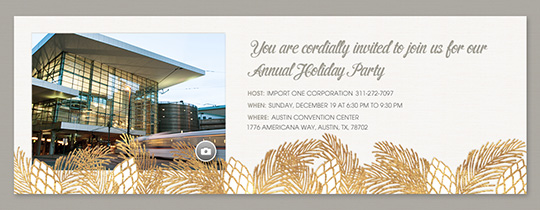 Pinecone Holiday Invitation