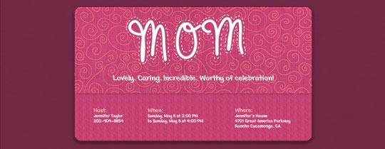 Pink Mom Invitation