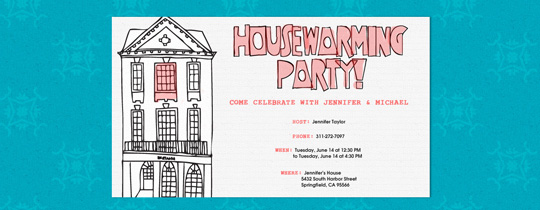Housewarming free online invitations – Invitation for Housewarming Party