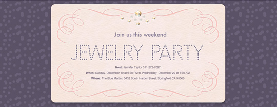 Rhinestones Invitation