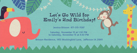 Babys first birthday invitation evite safari invitation filmwisefo Images
