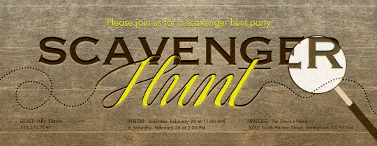 Scavenger Hunt Invitation