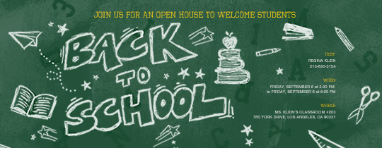 School Sketches Invitation