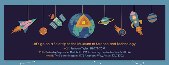 Science Museum Invitation
