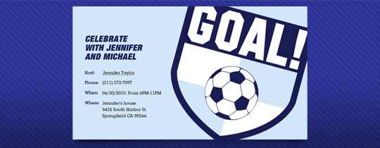 Soccer Goal Invitation