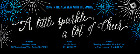 Starbursts New Year Invitation