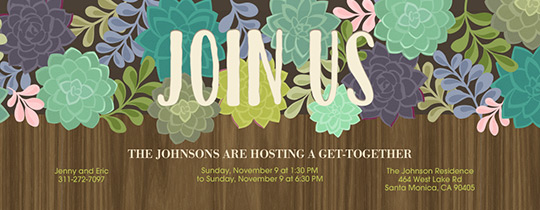 Succulent Box Invitation