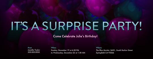 Surprise Balloons Invitation