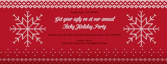 Sweater Snowflakes Invitation