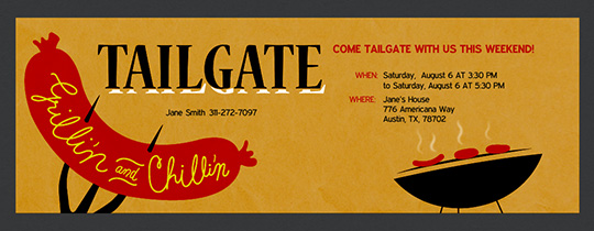 tailgating party online free invitations