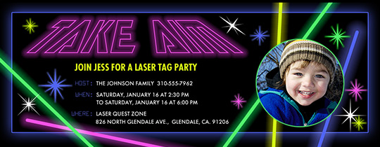 Invitations Free eCards and Party Planning Ideas from Evite – Laser Tag Party Invitation