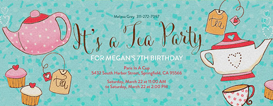 Time For Tea Invitation Free