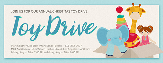 Toy Drive Invitation